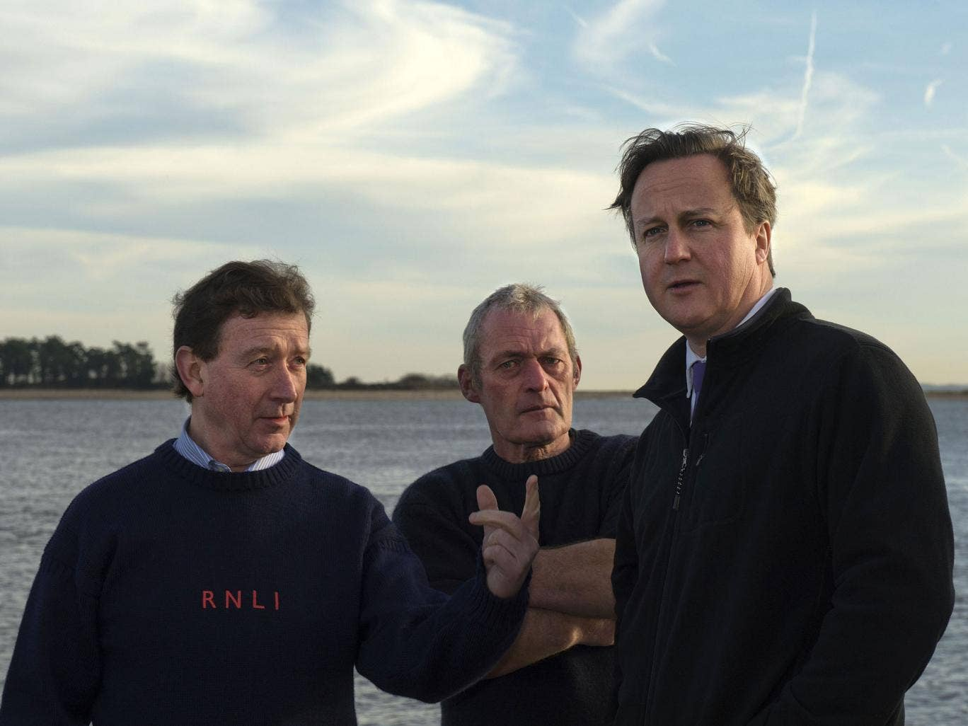 David Cameron visited East Anglia at the times of the floods to see the damage and meet members of the local emergency services