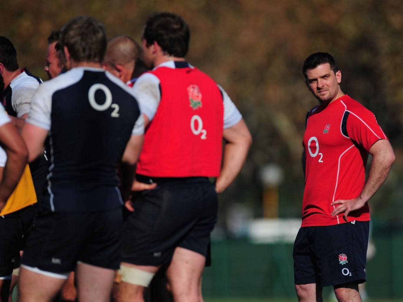 Matt Parker, far right, heads a 16-man team charged with preparing England for the World Cup next year