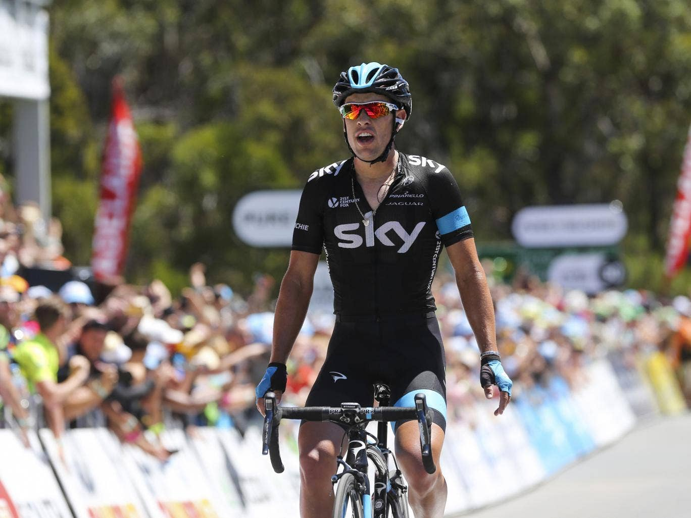 Team Sky rider Richie Porte takes victory on the fifth stage of the Tour Down Under