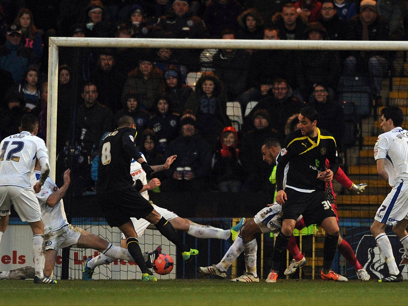 Oguchi Onyewu scores Sheffield Wednesday's second goal in the FA Cup win over Rochdale