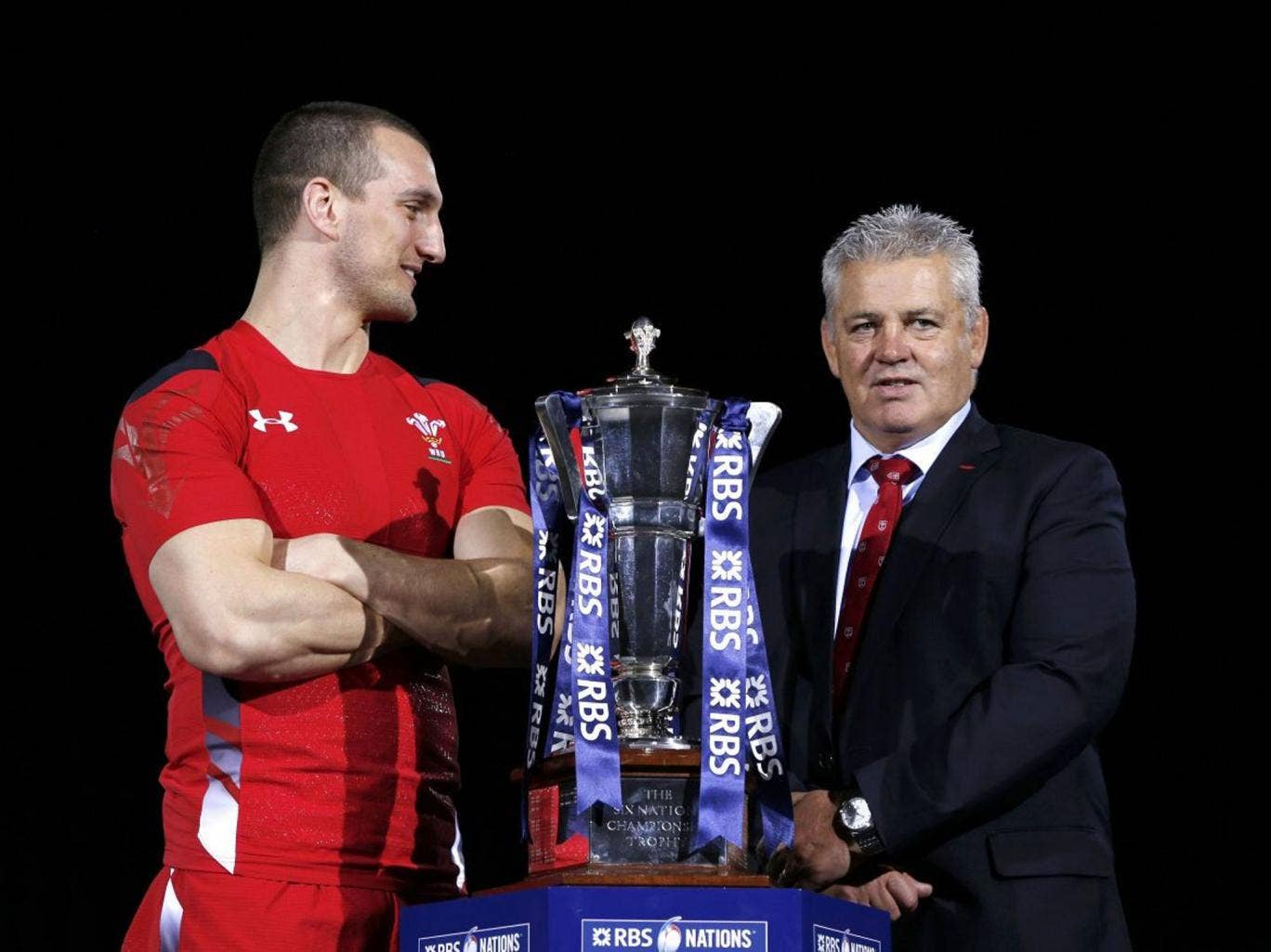 Play it again Sam: Warren Gatland has established a special bond with skipper Warburton for both Wales and the Lions