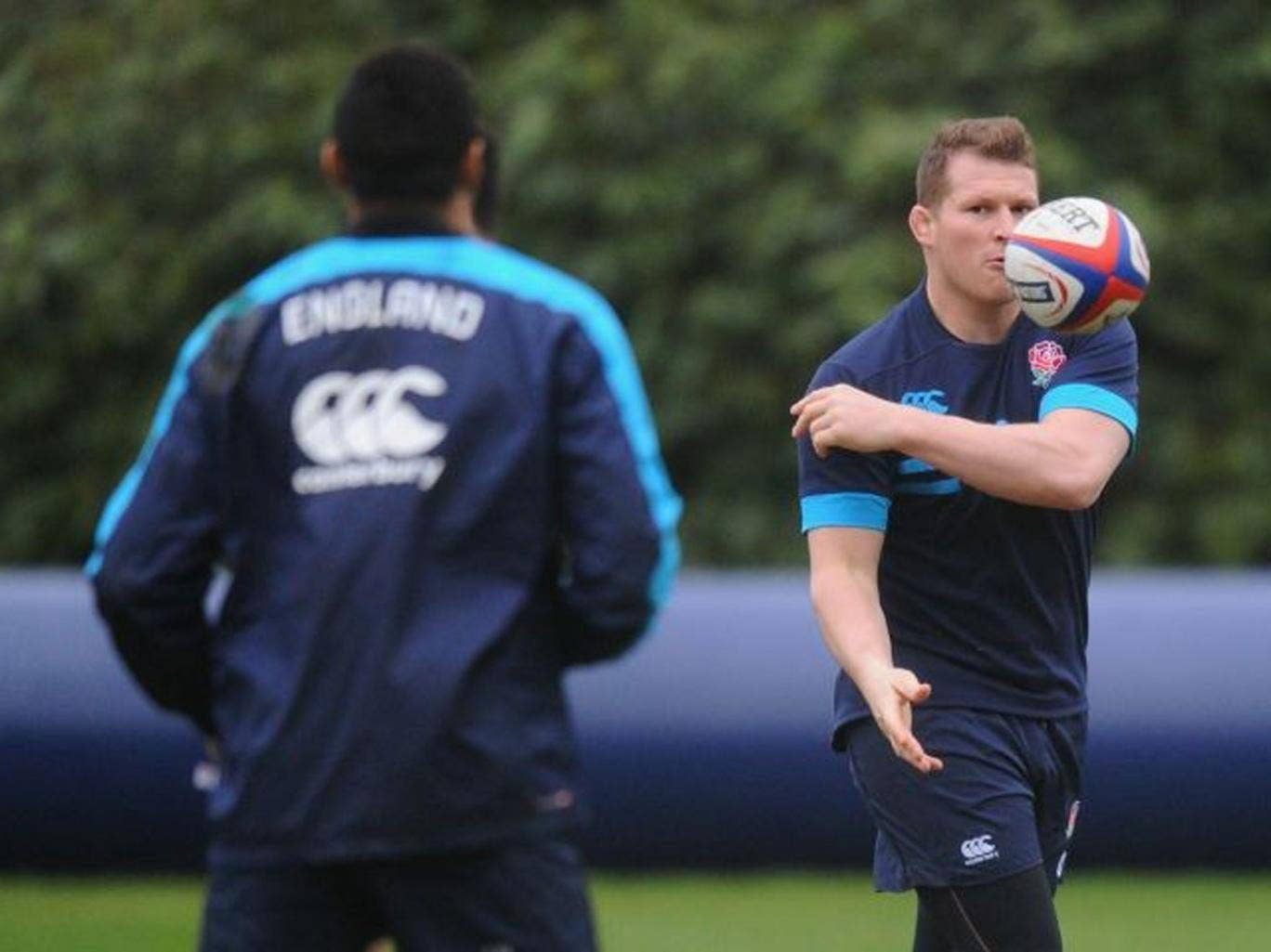 Passing judgement: Dylan Hartley now believes that pushing the opposition back five metres is the way to hurt them
