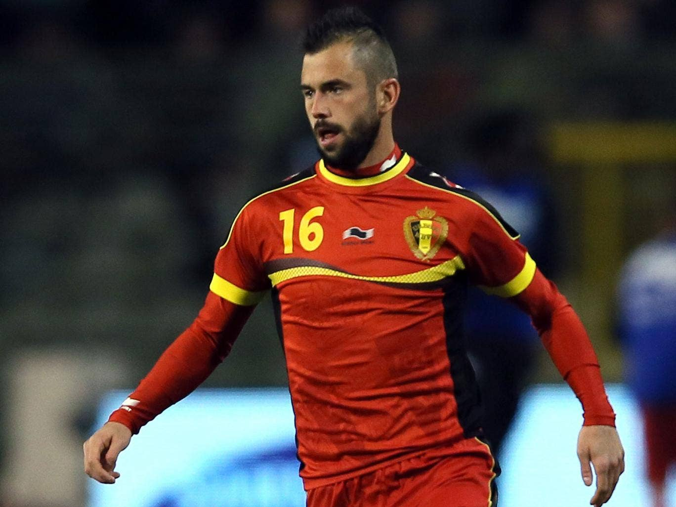 Steven Defour in action for Belgium last November