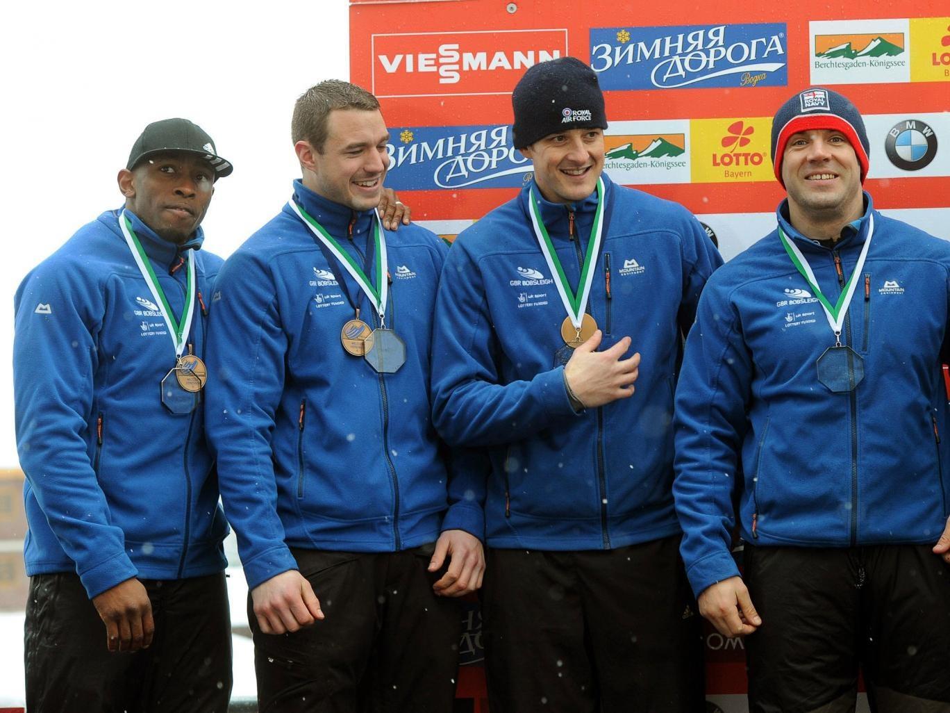Great Britain's four-man bobsleigh team