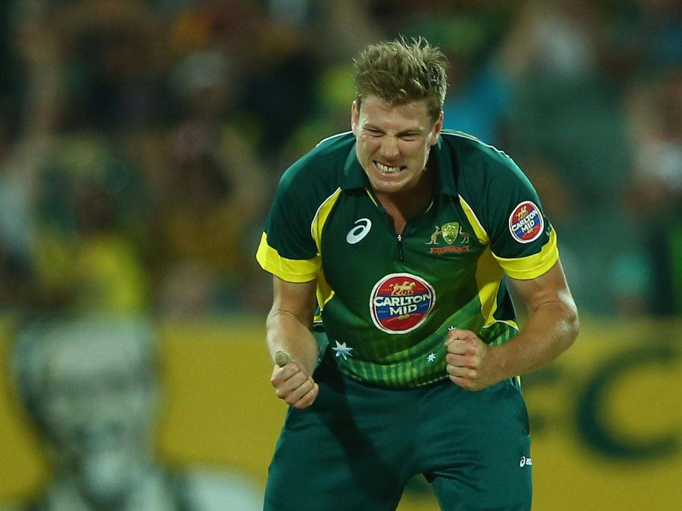 James Faulkner could miss the three-match Twenty20 series with England after suffering a knee injury