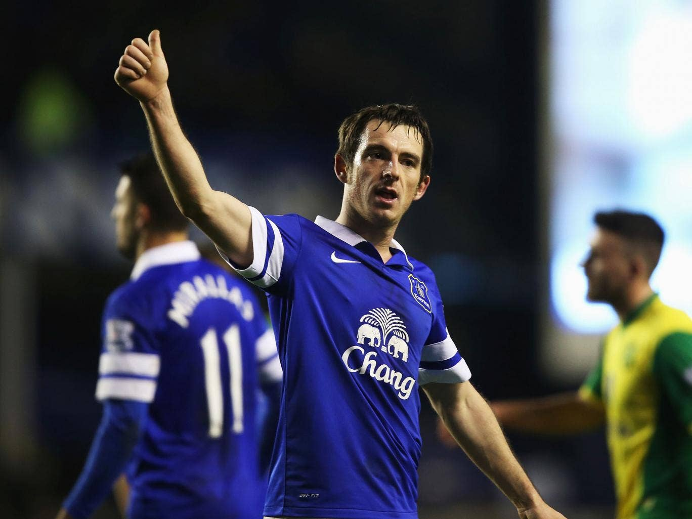 Leighton Baines has signed a new four-year contact with Everton