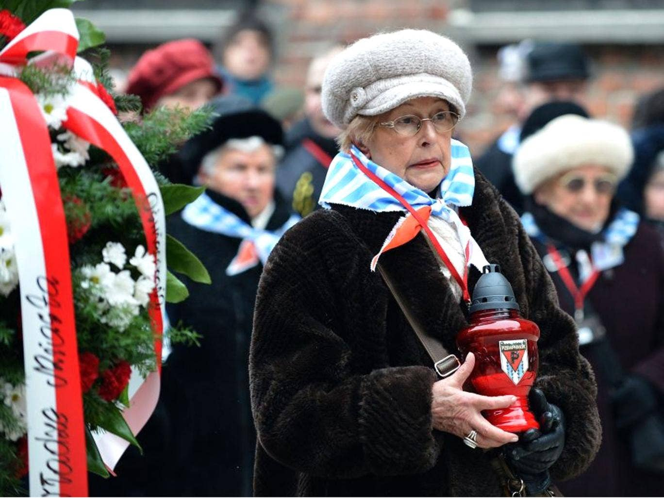 A ceremony at the memorial site of the former Nazi concentration camp Auschwitz-Birkenau in Oswiecim took place 69 years after the liberation of the death camp by Soviet troops, in remembrance of the victims of the Holocaust