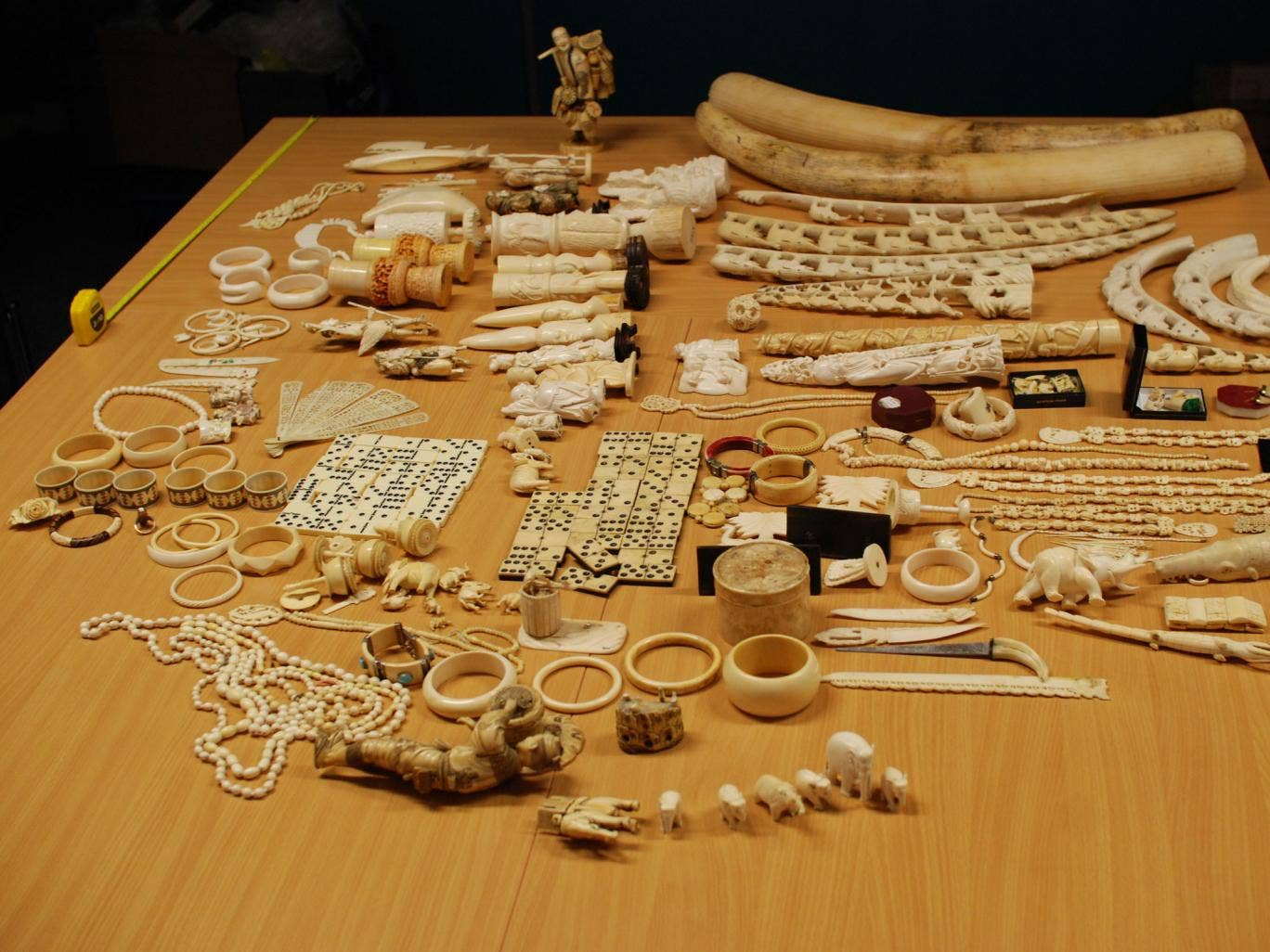 Ivory items surrendered to the International Fund for Animal Welfare