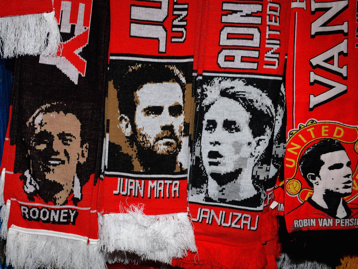Juan Mata scarves are being sold outside Old Trafford