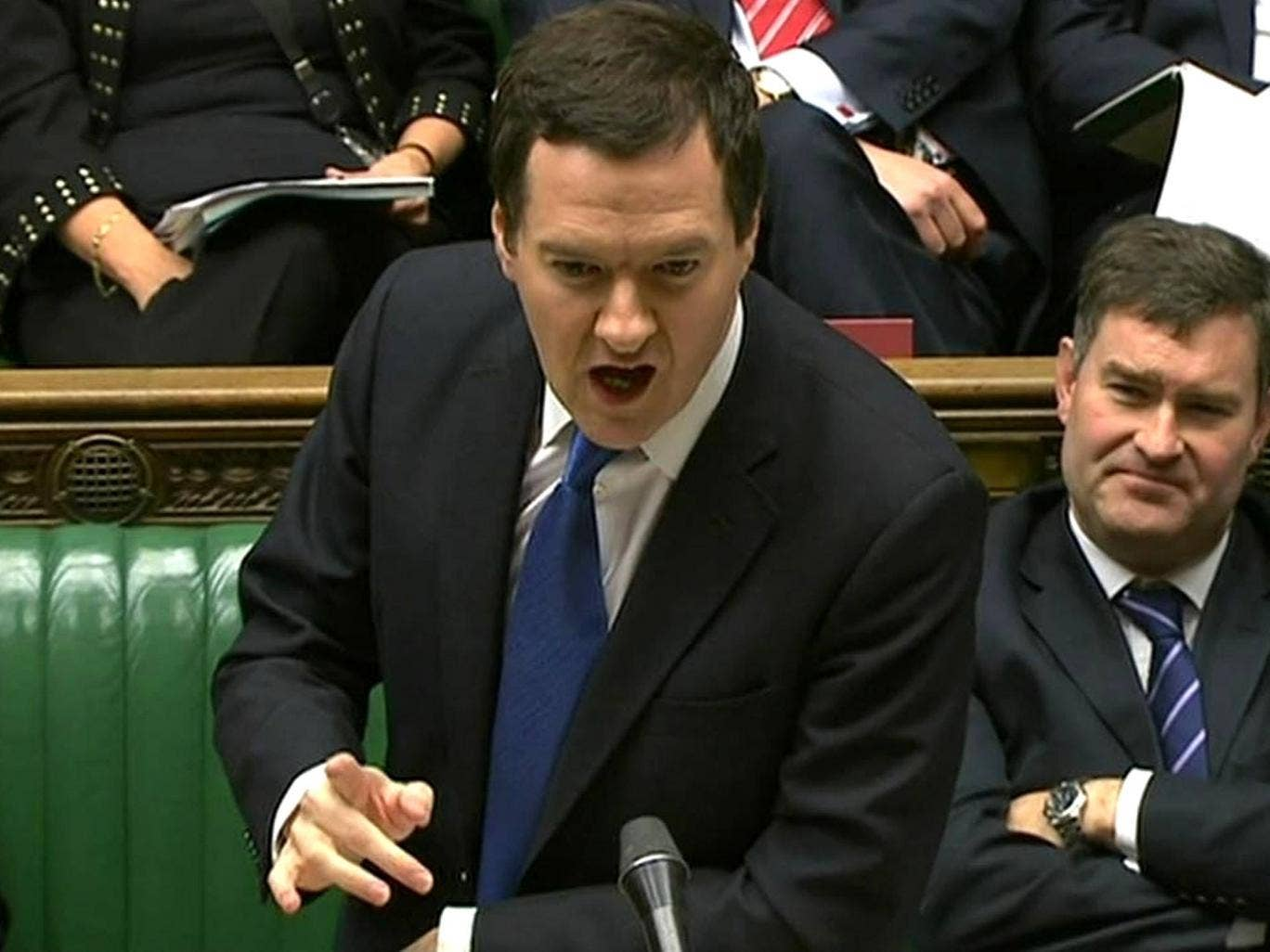 A defiant George Osborne during Treasury Questions in the House of Commons