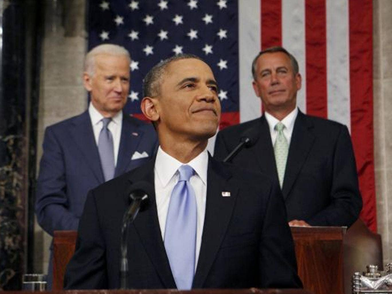 President Obama urged members of Congress to make 2014 a 'year of action' in his State of the Union address