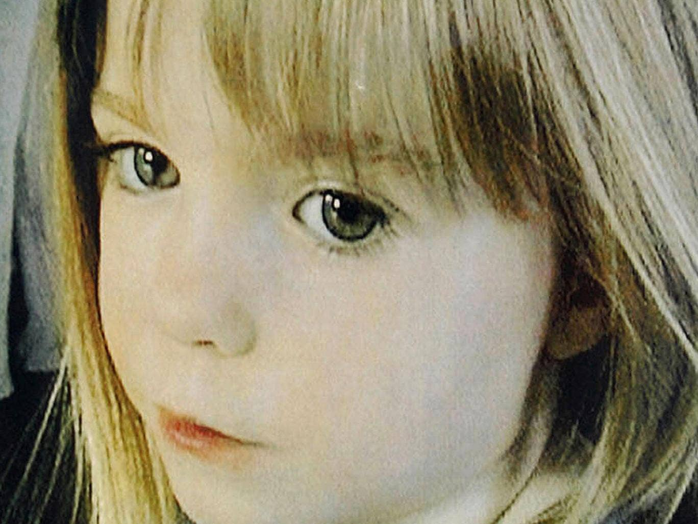 British girl Madeleine McCann, who was allegedy abducted 03 May 2007 from the resort apartment where she was on vacation with her family in the Algarve
