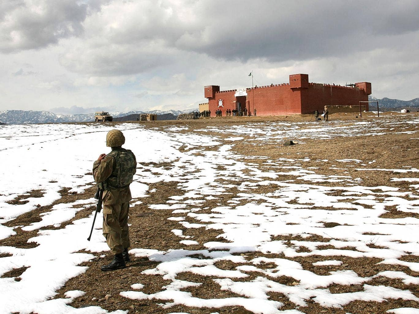 'The world's most dangerous place': a North Waziristan border outpost in 2007. The army is gearing up to retake the region which is a hotbed of militancy and where the Pakistani Taliban are based