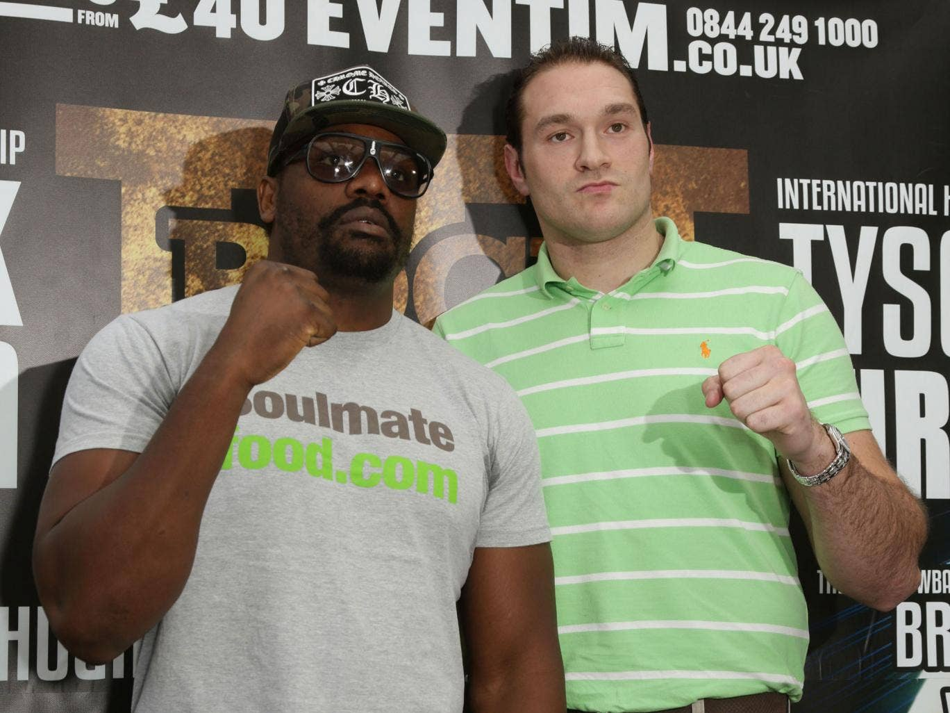 Dereck Chisora, left, and Tyson Fury should be able to set up their rematch for this summer