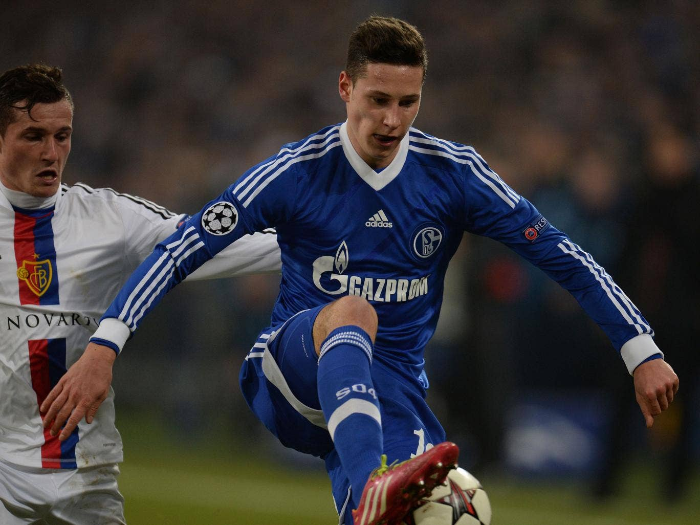 Julian Draxler, in blue, has been valued at £37m, which is too high a risk for a 20-year-old