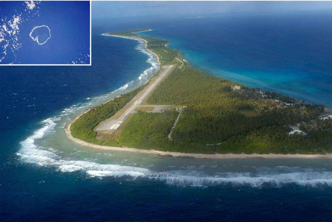 Jose Ivan was found washed up on Ebon Atoll (inset) which is part of the Marshall Islands