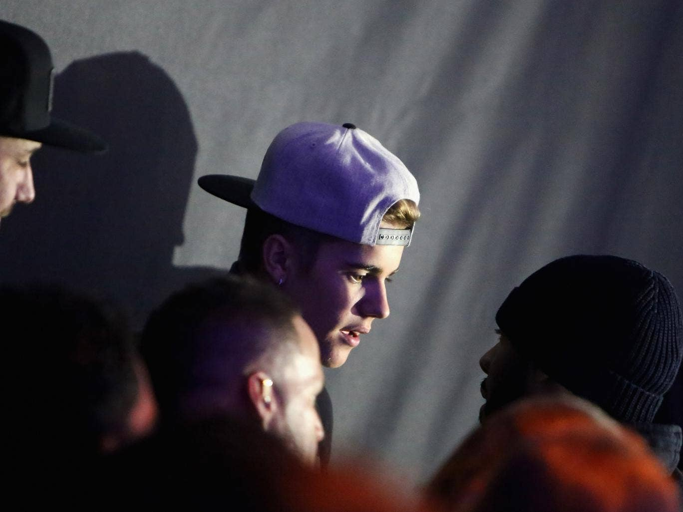 Justin Bieber pictured in New York yesterday. The search of his plane was undertaken after US customs officials believed they smelled marijuana on some of Bieber's entourage