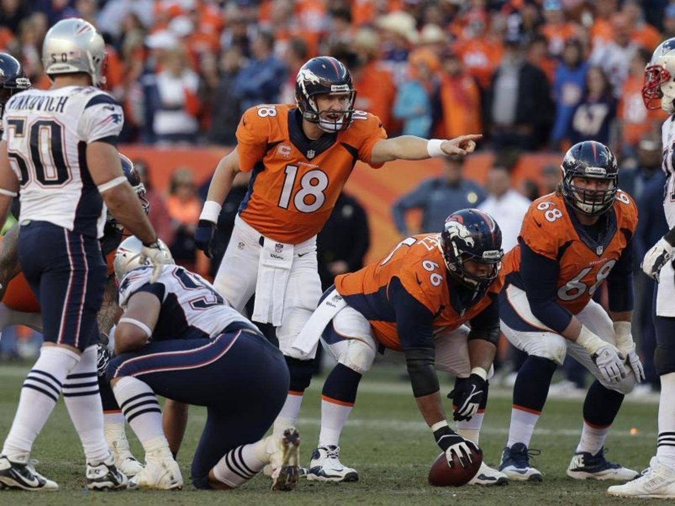 Fronting up: Denver Broncos' Peyton Manning will face Seattle Seahawks