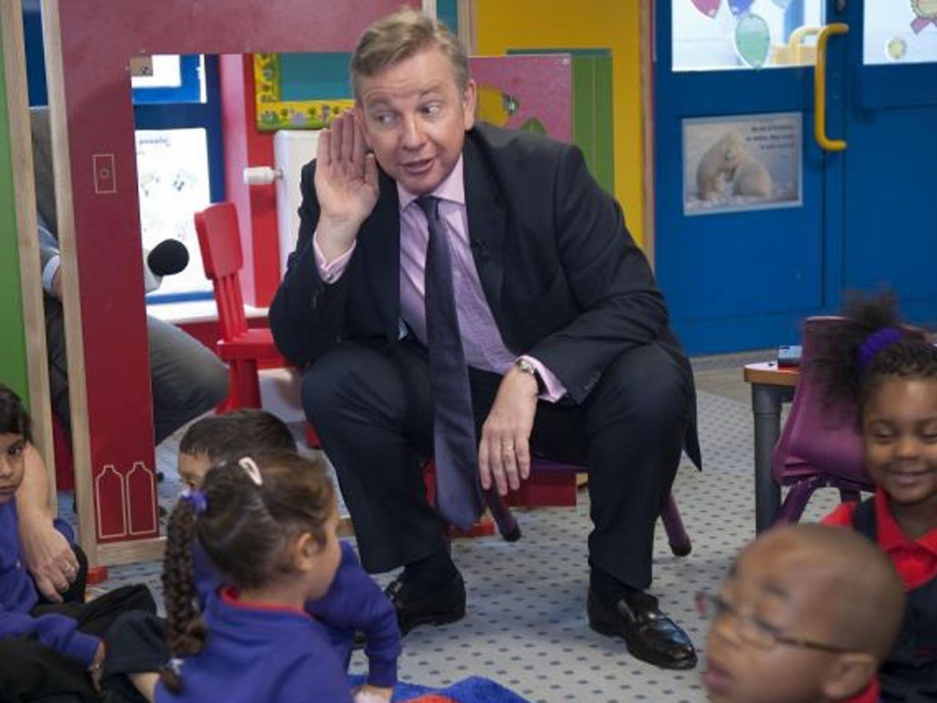 Education Secretary Michael Gove visits a school