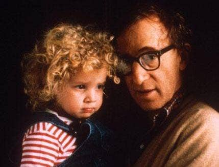 Dylan Farrow and Woody Allen, pictured in 1988