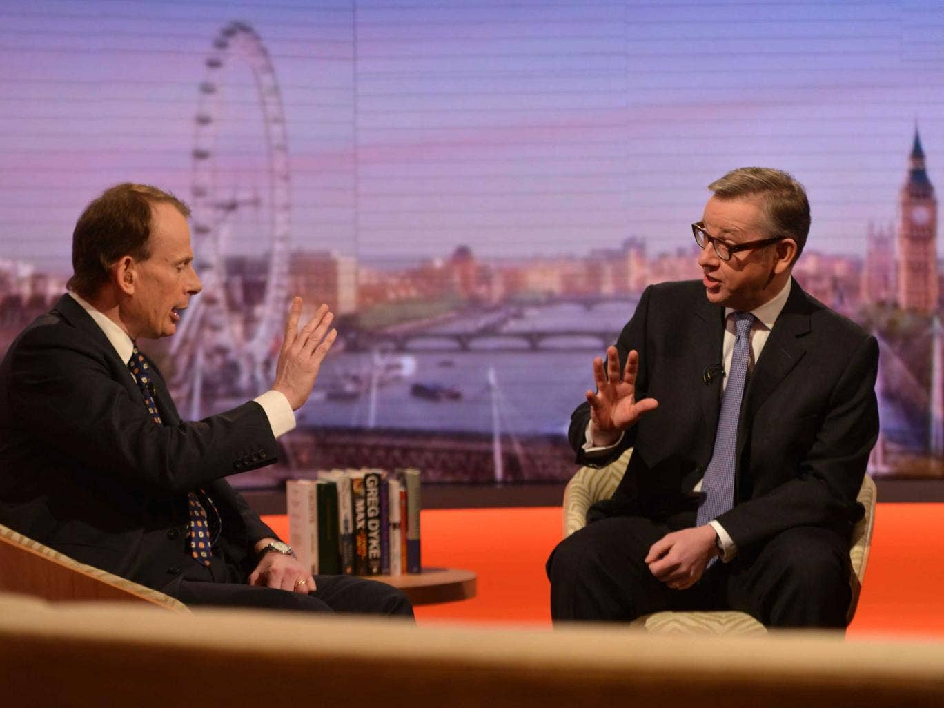 Michael Gove tells Andrew Marr that Lady Morgan was not removed for political reasons