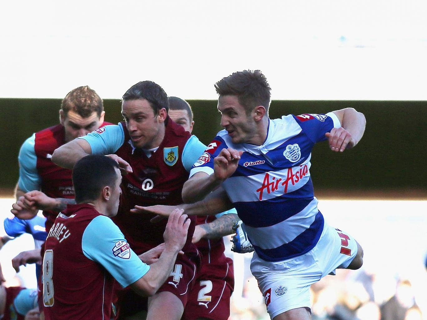 Kevin Doyle scores on his QPR debut in the 3-3 draw with Burnley
