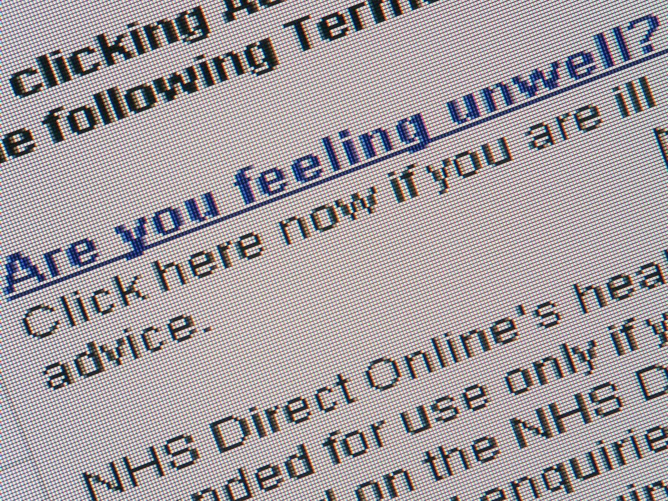 Patients accessing the site were sent adverts and malware