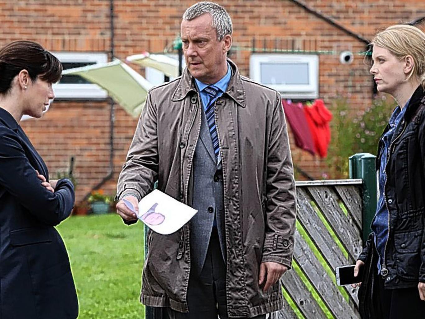 Prime suspect: Caroline Catz, Stephen Tompkinson and Andrea Lowe in 'DCI Banks'