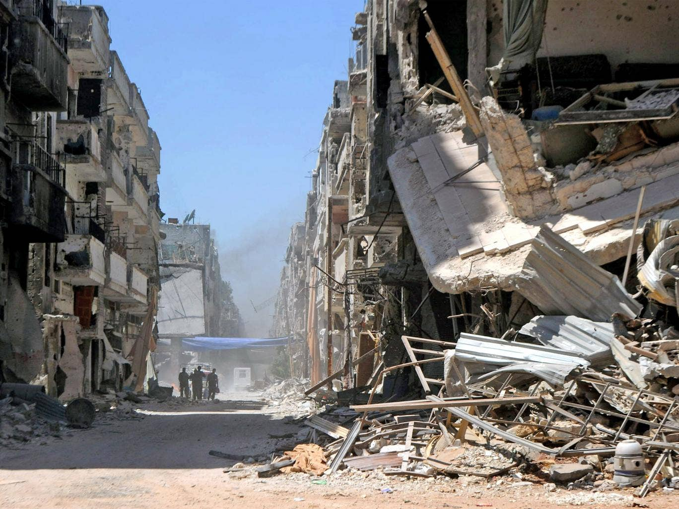 Almost three years since the start of the Syrian conflict, Homs - once a thriving city of more than half a million people - now lies in ruin