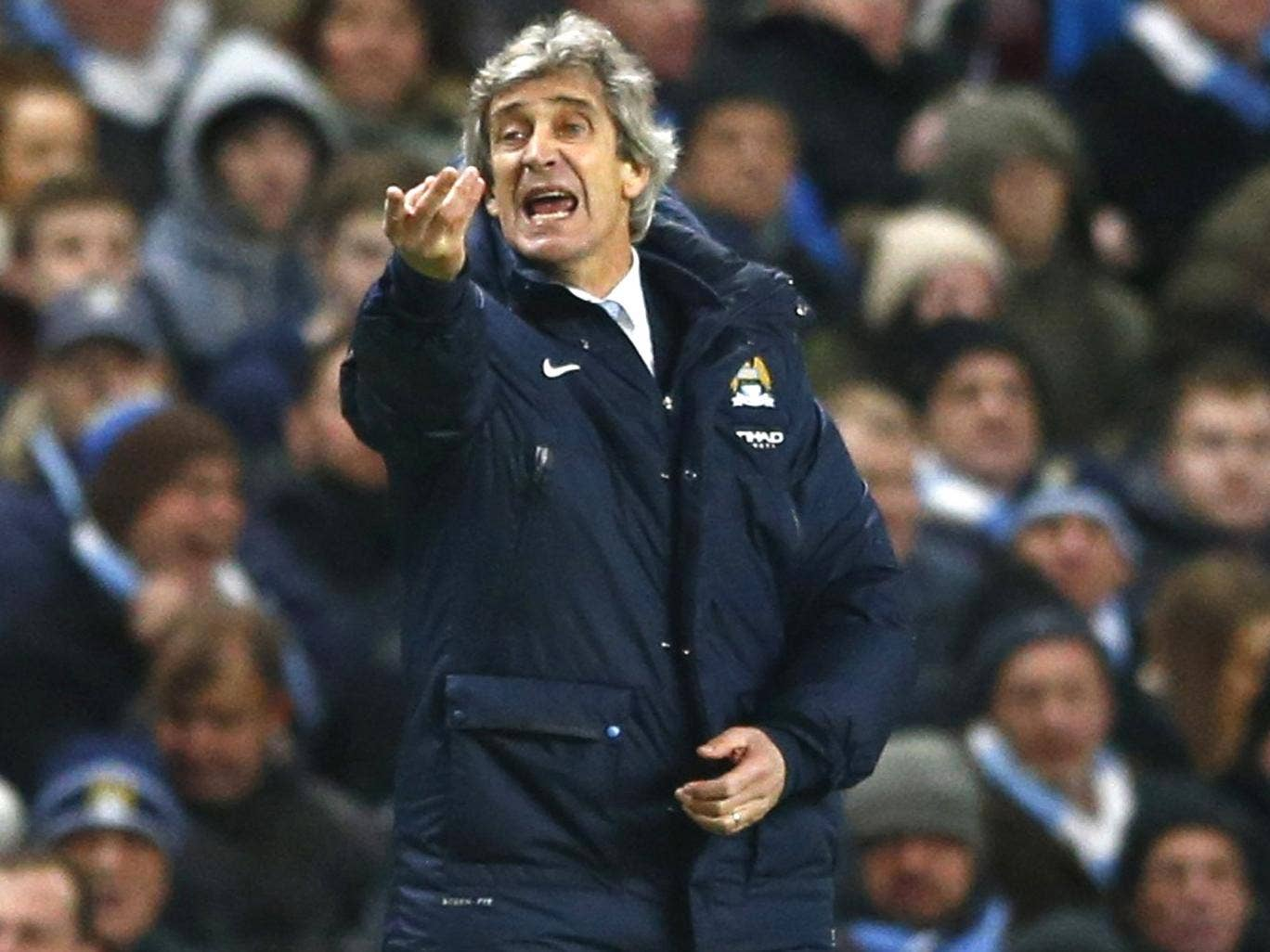 Manuel Pellegrini wants his team to play with a free spirit