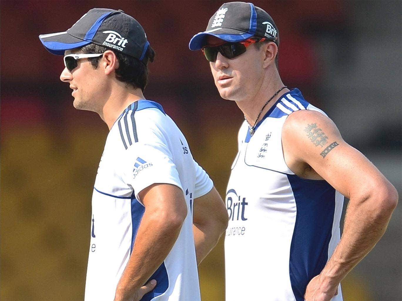 Alastair Cook (left), and Kevin Pietersen, who had become an isolated figure during the Ashes tour