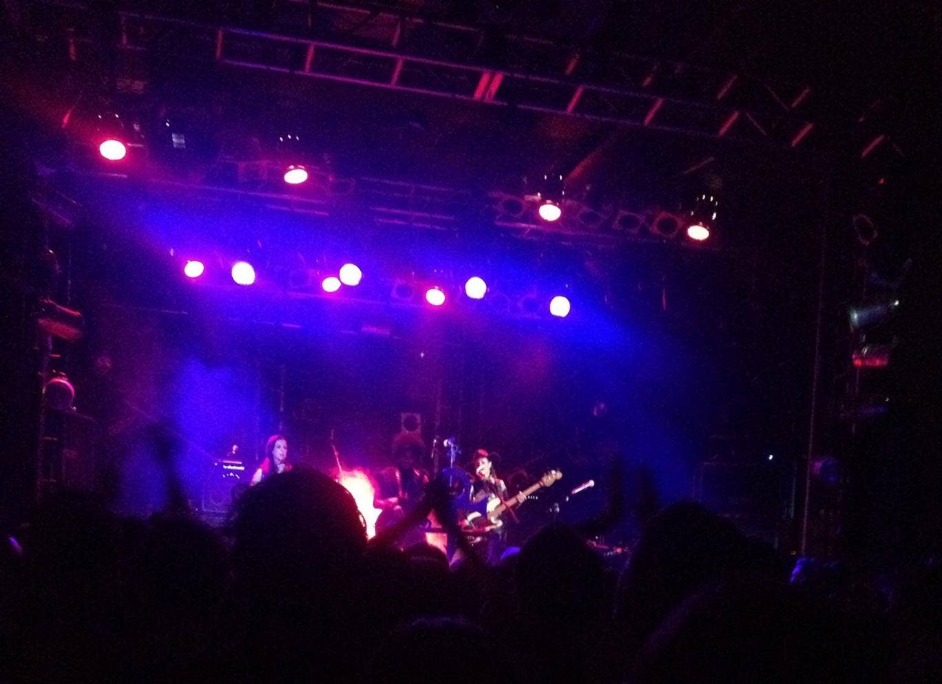 American singer Prince on stage at the Electric Ballroom in Camden, north London for a secret gig