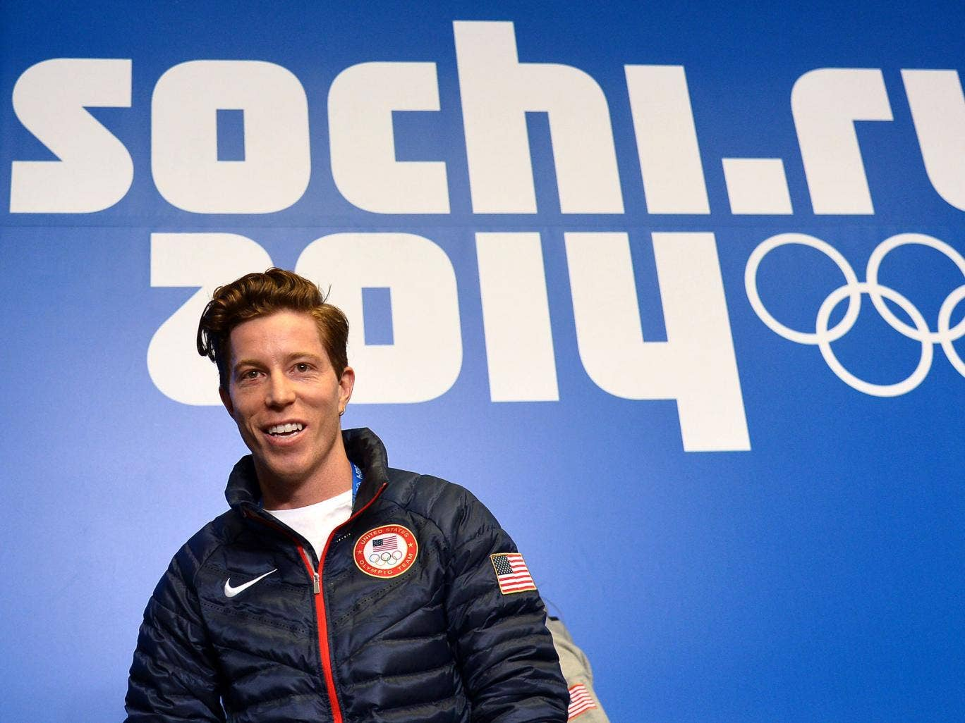Shaun White pictured at the Sochi games