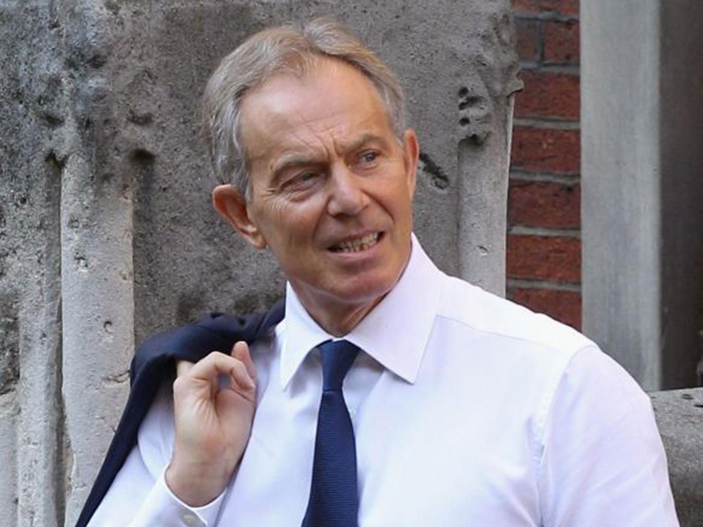 Ol' blue eyes: former PM Tony Blair
