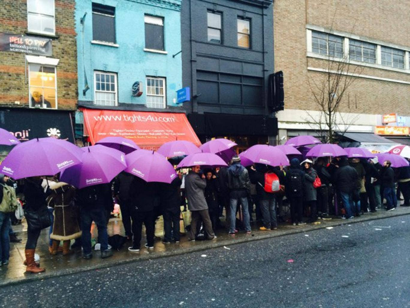 Purple rain: hundreds of Prince fans queued to see the musician play a secret show in Camden, North London