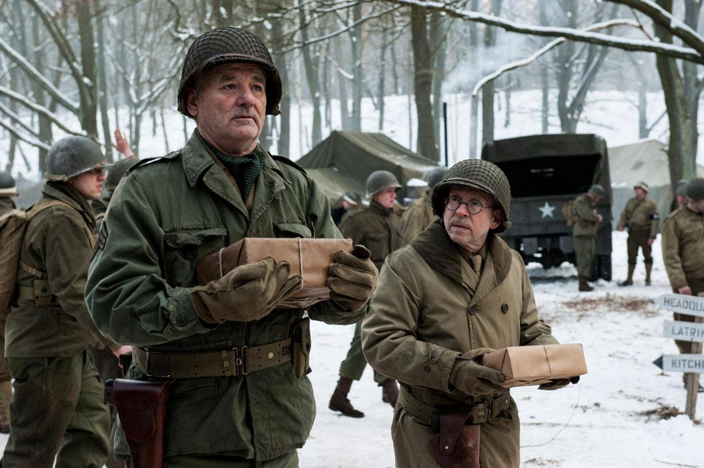 Bob Balaban and Bill Murray in 'The Monuments Men'
