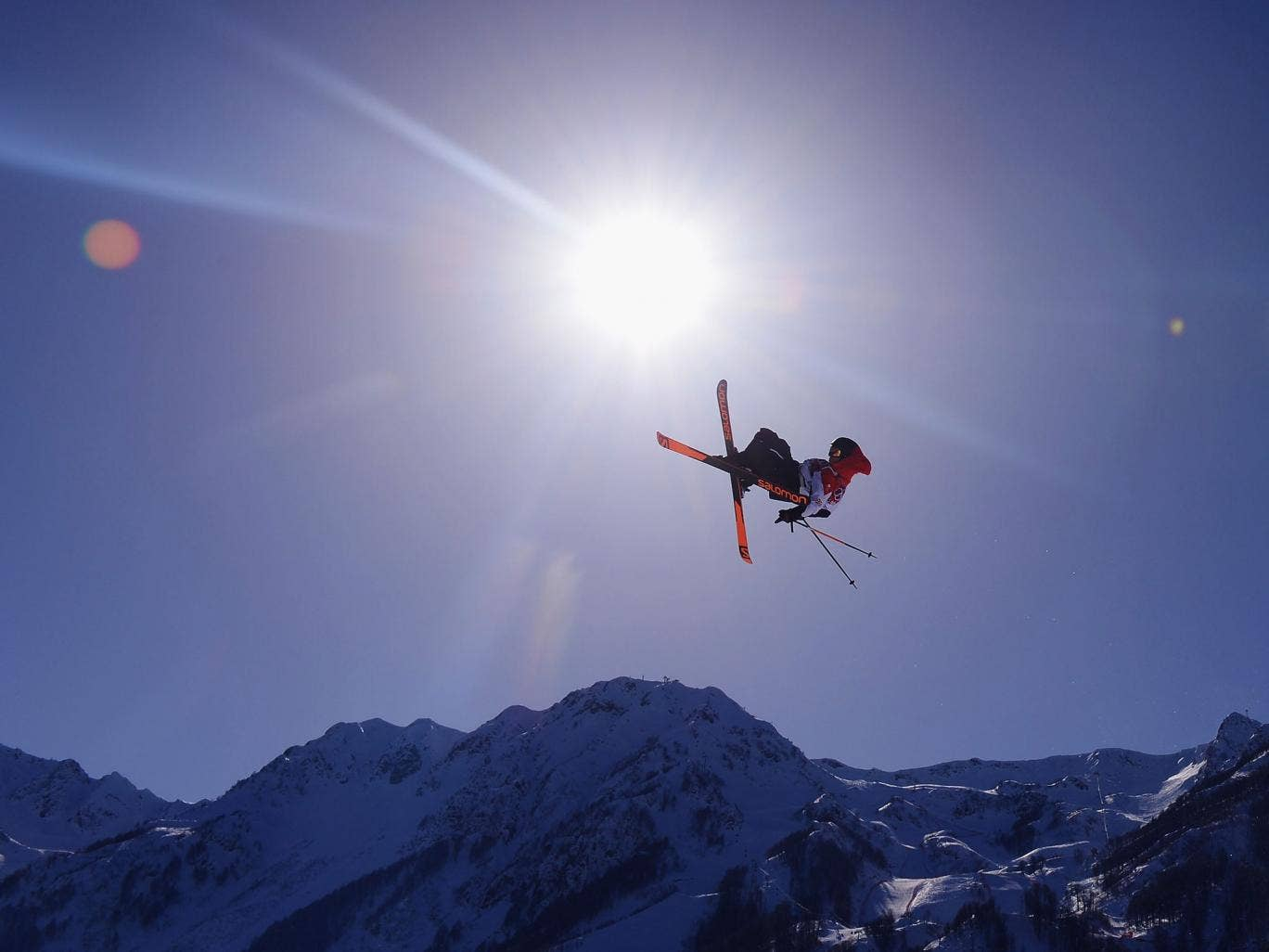 Blizzard king: UK skier James Woods, one of the favourites to win the ski slope-style event, trains in Sochi