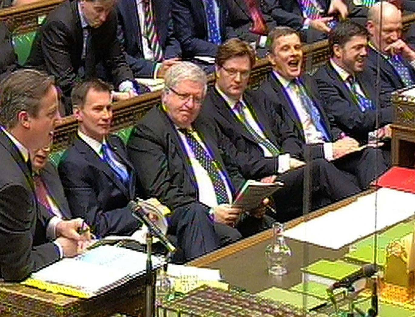 """The sceneduring Prime Minister's Questions in the House of Commons this week. An """"old boys' network"""" was Ed Miliband's description"""