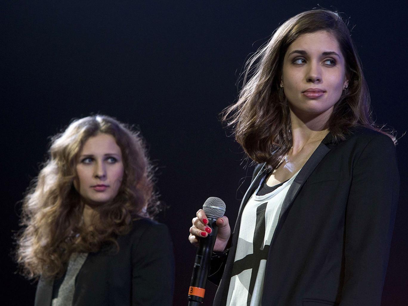 Maria Alyokhina (left) and Nadezhda Tolokonnikova from punk pop girl band Pussy Riot