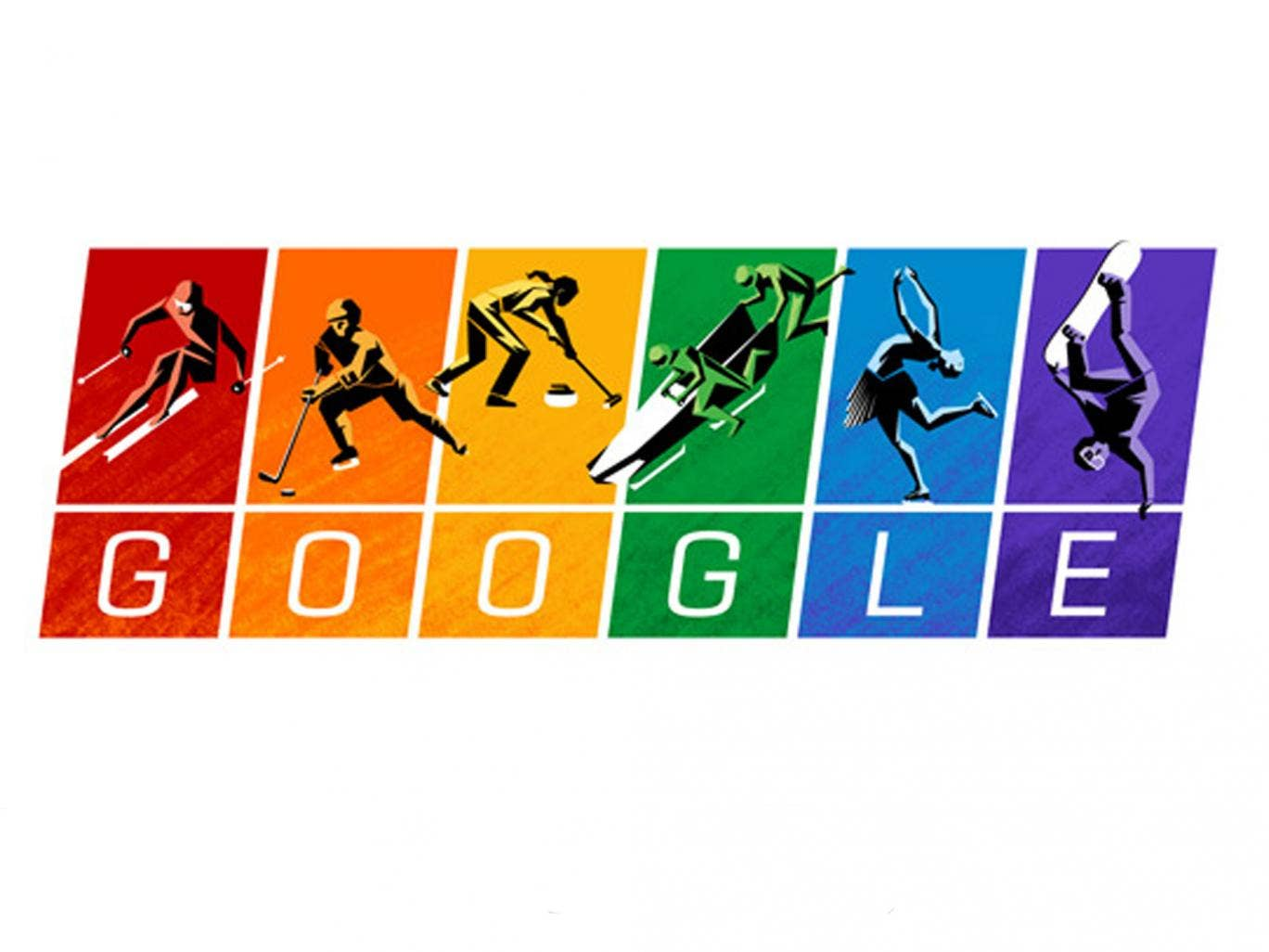 Today's Google Doodle celebrates the start of the 2014 Sochi Winter Olympics