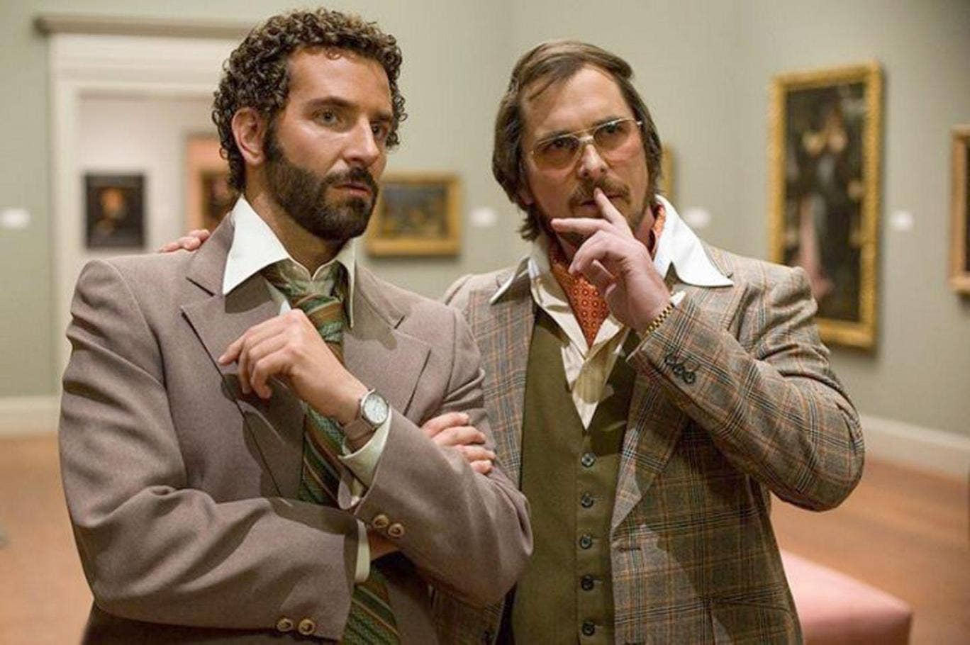 Movie scammers: Bradley Cooper and Christian Bale in American Hustle