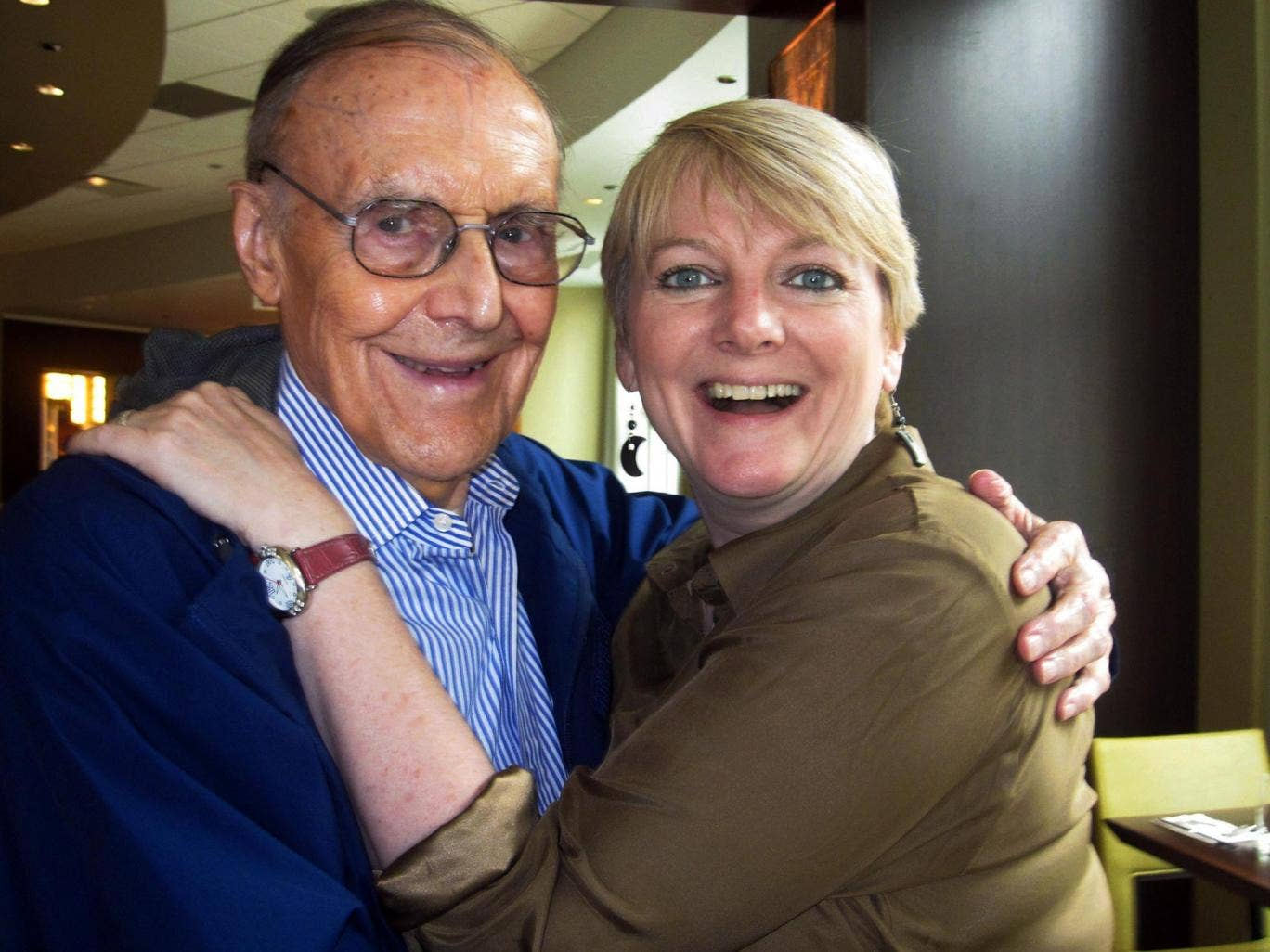 Richard Bull in 2011 with Alison Arngrim, his daughter Nellie in 'Little House'