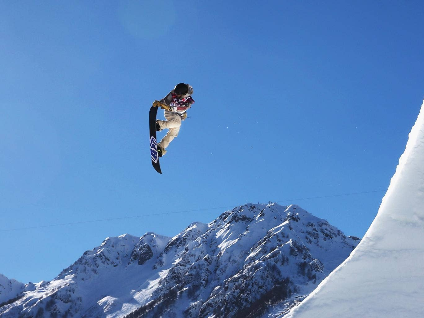 Sage Kotsenburg of the USA took gold in the snowboard slopestyle