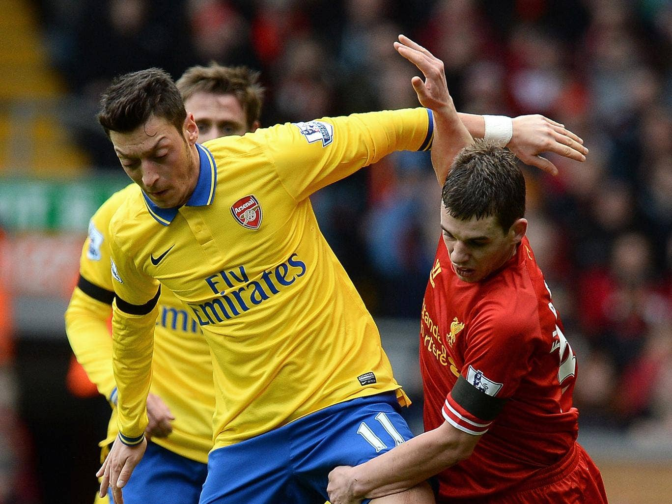 MESUT OZIL: Caught in possession too often - sometimes costly - and his delivery was wayward - 5.