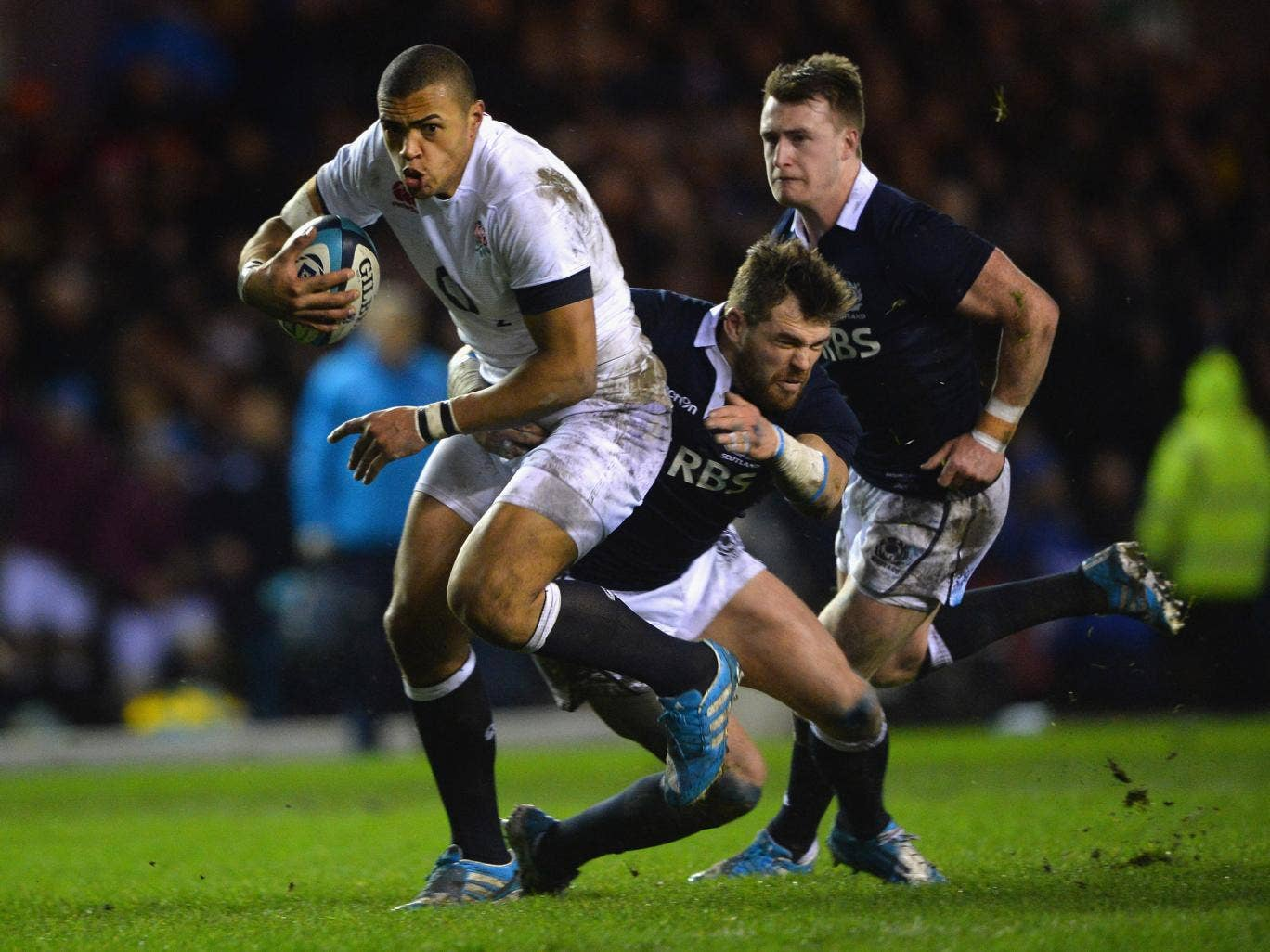 Luther Burrell scored his second try in as many games for England in the 20-0 victory over Scotland