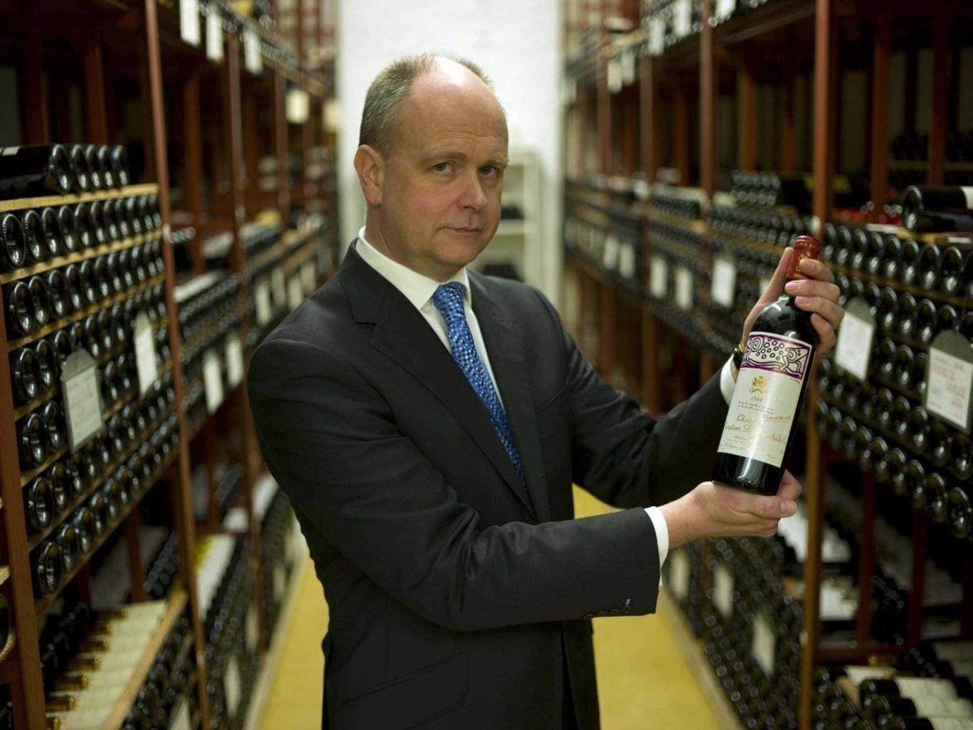 Bottle bank: Robert Alexander, head of government hospitality