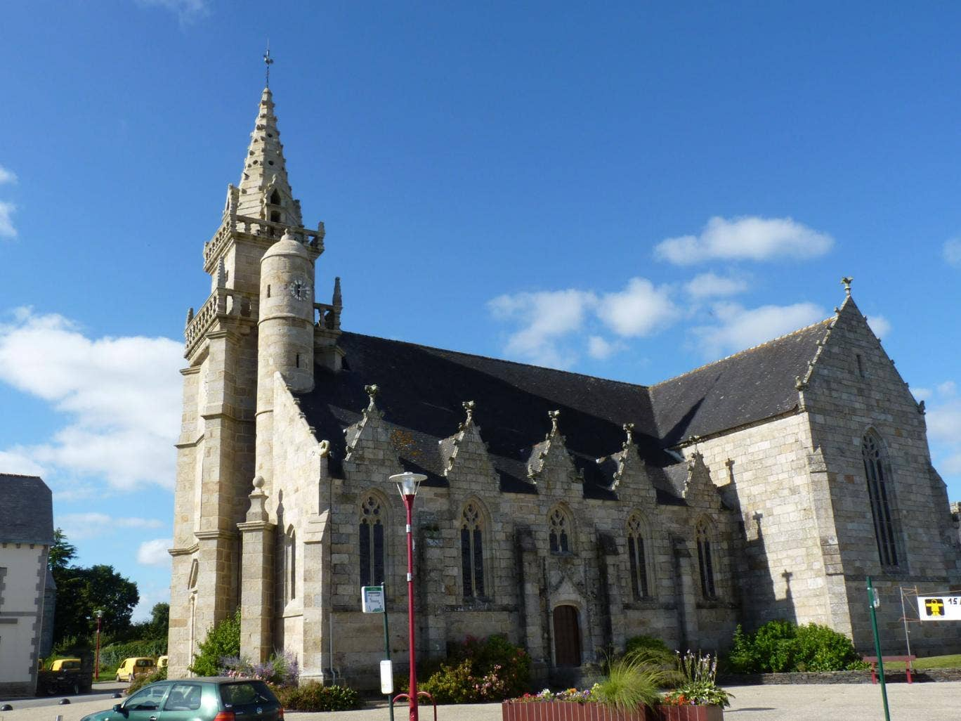 The Church of Saint-Pierre in the Brittany town of Mael-Carhaix, where a woman has been discovered to be living with the corpse of her long-dead mother