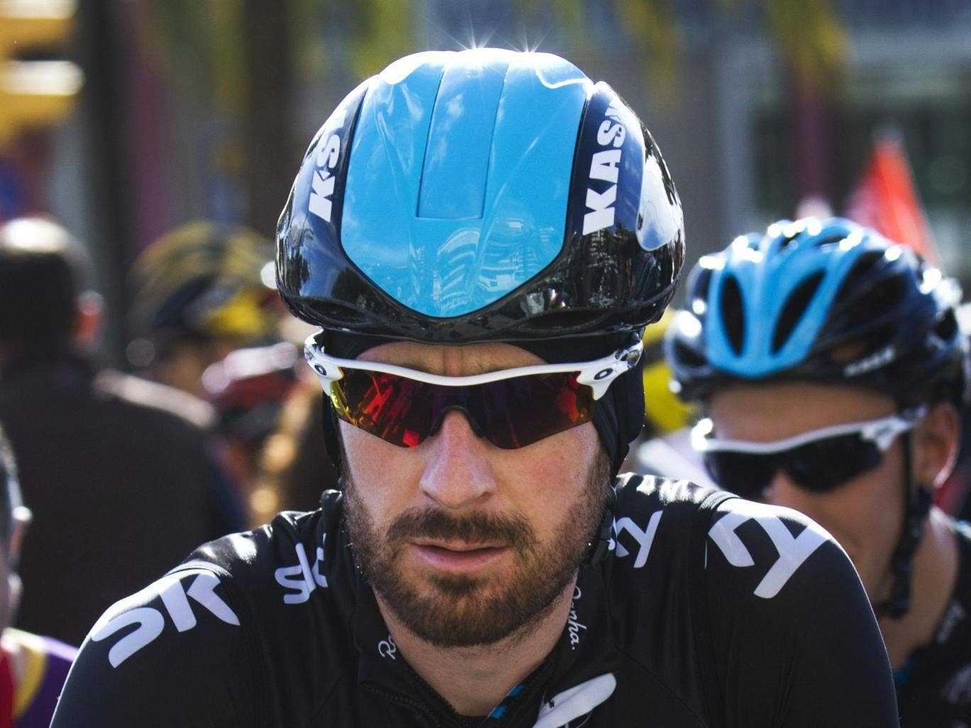 Sir Bradley Wiggins is expected to take part in his first race of 2014 today