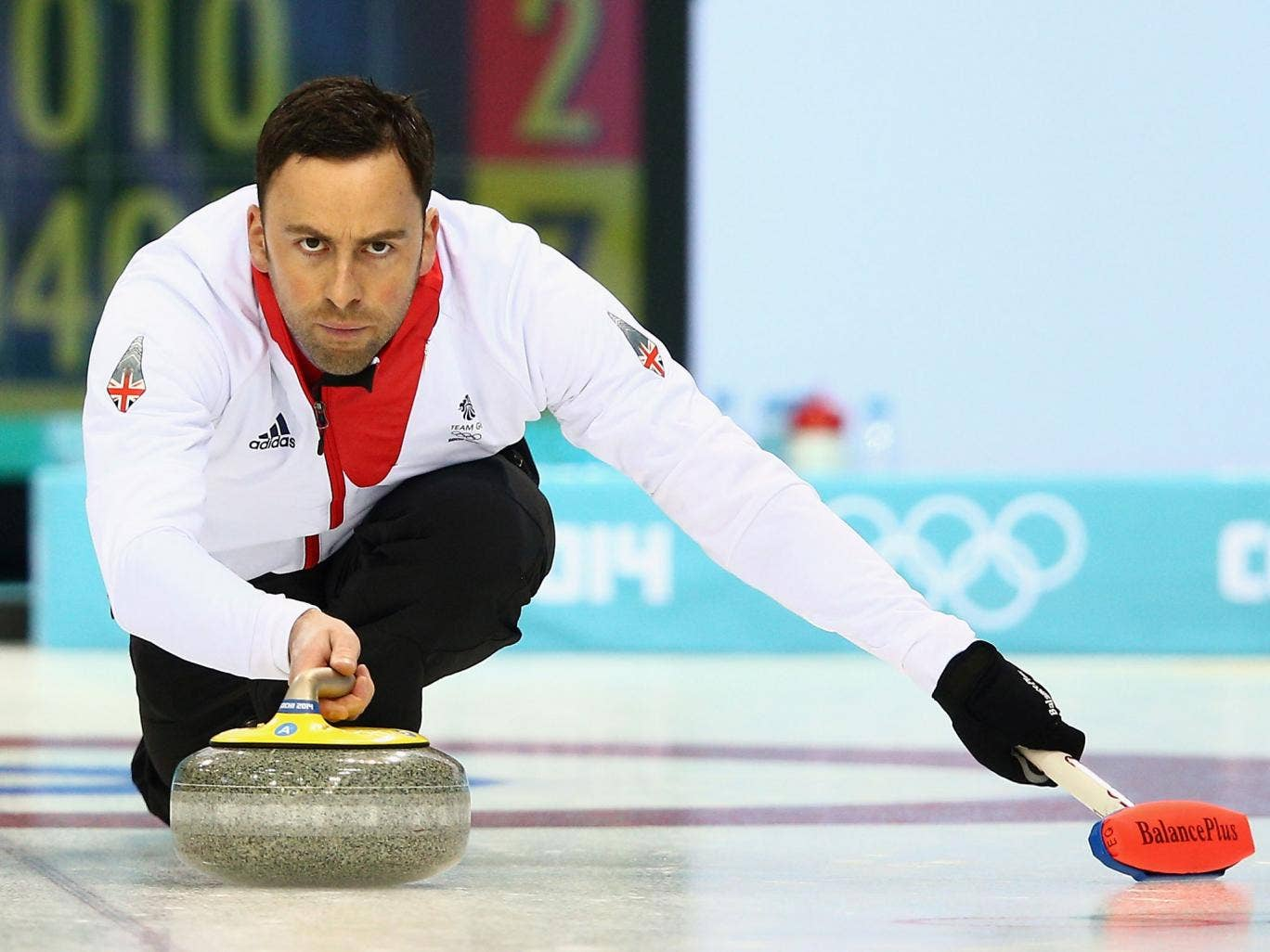 Team GB men's curling captain David Merdoch had a perfect record in his side's 7-4 victory over Russia