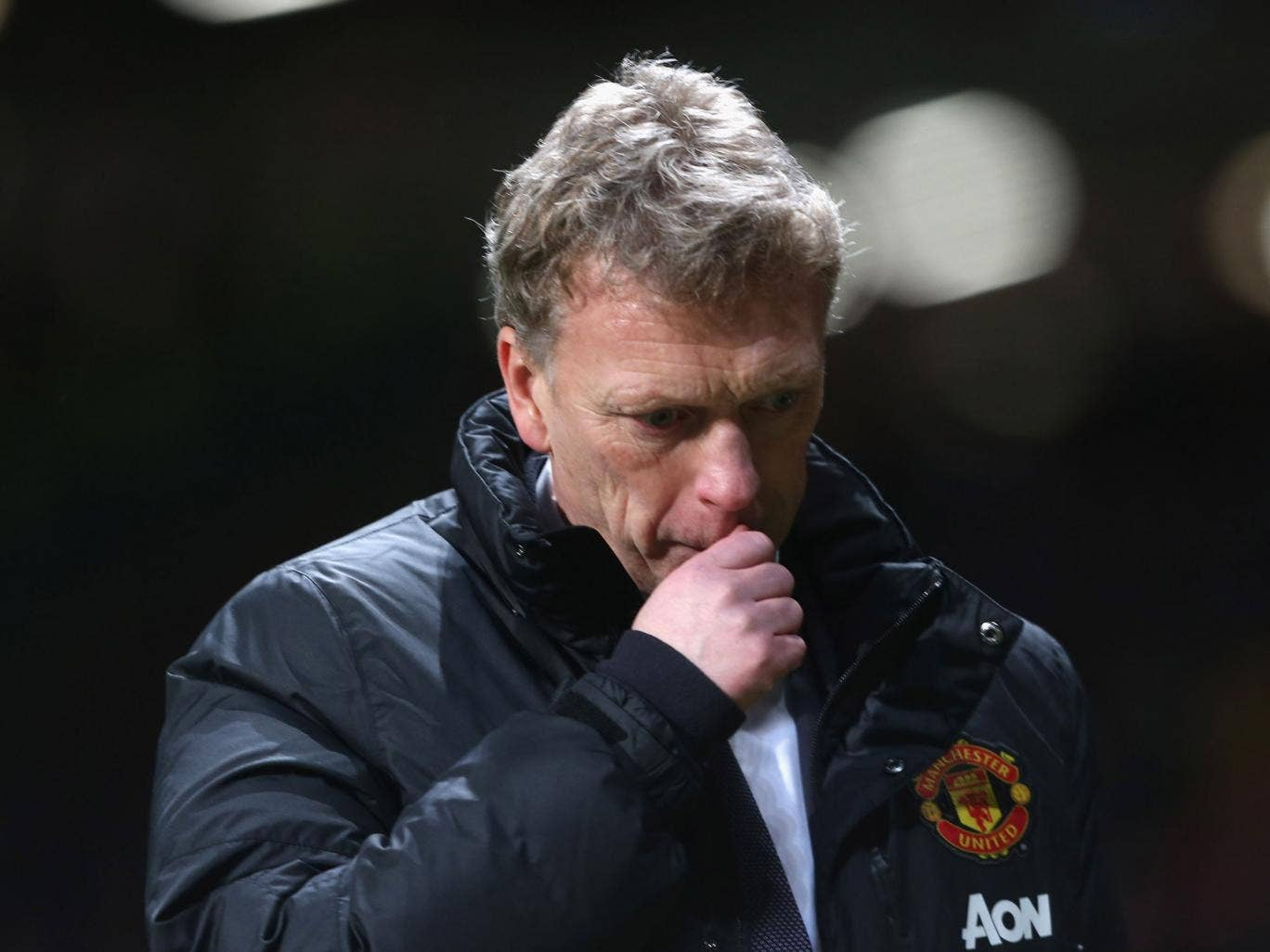 David Moyes reacts to Manchester United's 2-2 draw with Fulham on Sunday